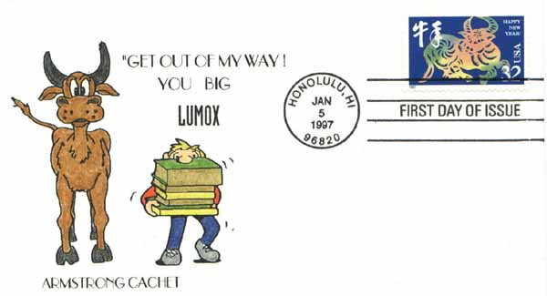 1997 january 5 first day cover chinese new year issue 3 each sold out - Chinese New Year 1997